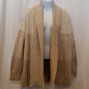 Chater Club Size Large Tan Open Front Cardigan